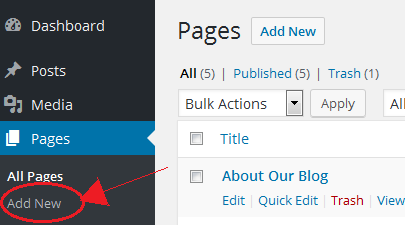 Create Pages